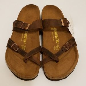 New Birkenstock Mayari Habana Leather Sandals 41